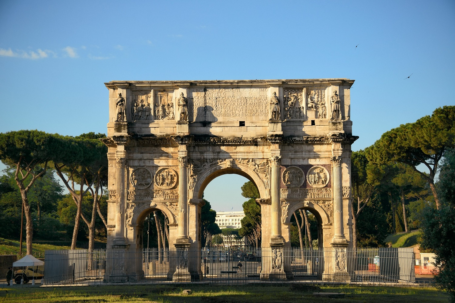 Arch of Constantine in Rome, Italy.