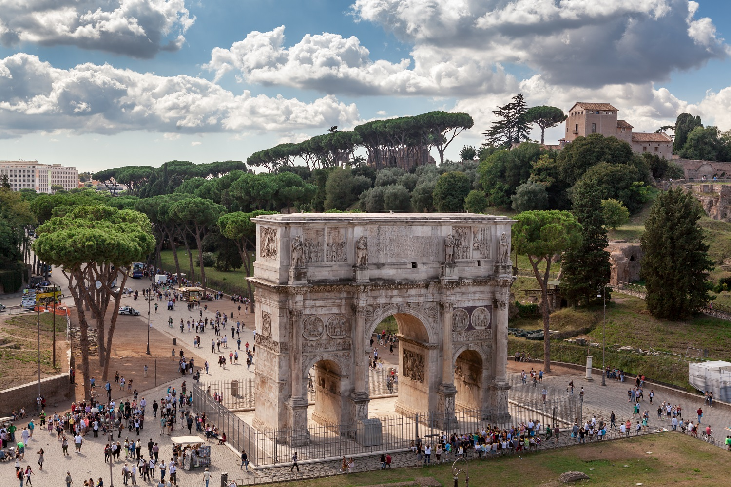 Arch of Constantine from the Colosseum in Rome
